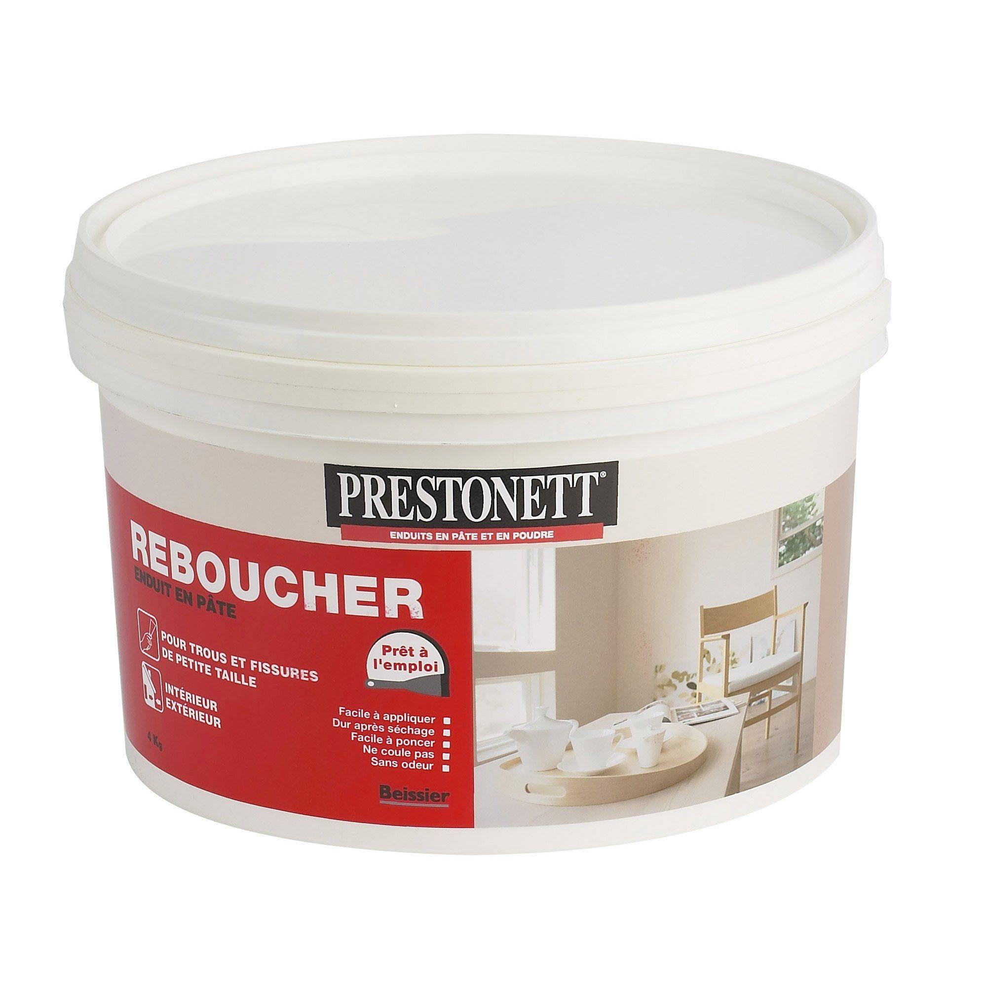 Enduit De Rebouchage Pâte Blanc Prestonett 4 Kg Products