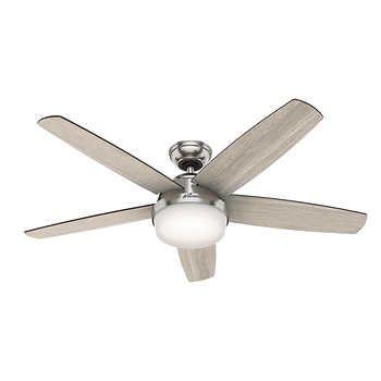 Hunter Avia 54 Led Indoor Ceiling Fan Ceiling Fan Gray Ceiling