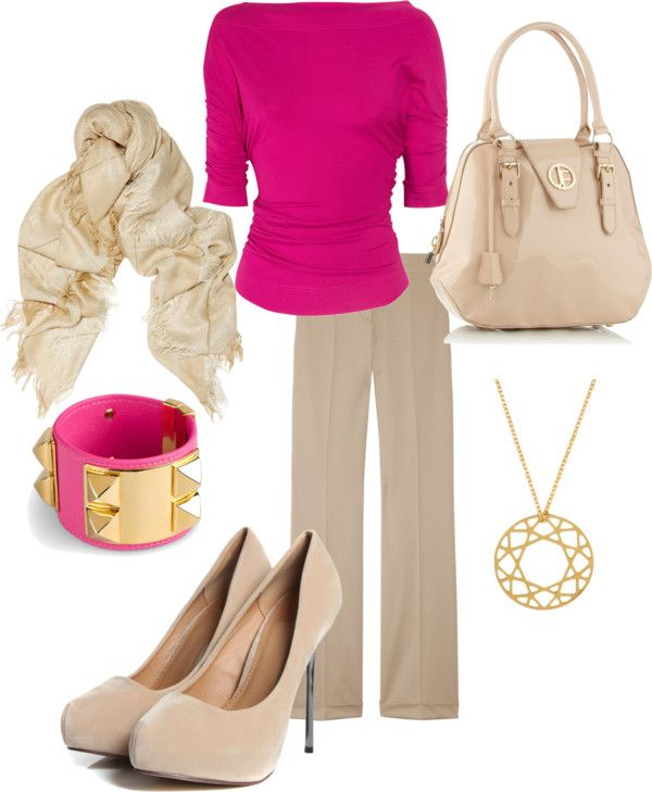 """""""Pop of Pink"""" by djgauh ❤ liked on Polyvore"""