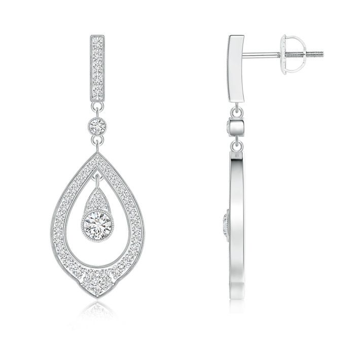 Angara Contemporary Diamond Studded Celtic Knot Stud Earrings AxOatyOD