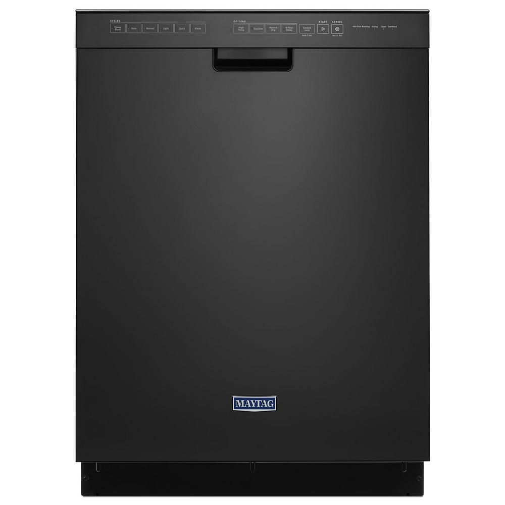 Maytag Front Control Built In Tall Tub Dishwasher In Black 50 Dba Mdb4949shb The Home Depot Custom Choppers Custom Paint Motorcycle Built In Dishwasher