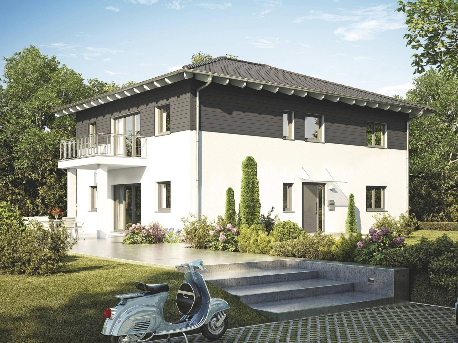 Haus balance 400 • haus mit einliegerwohnung von weberhaus • modernes fertighaus mit walmdach und zwei