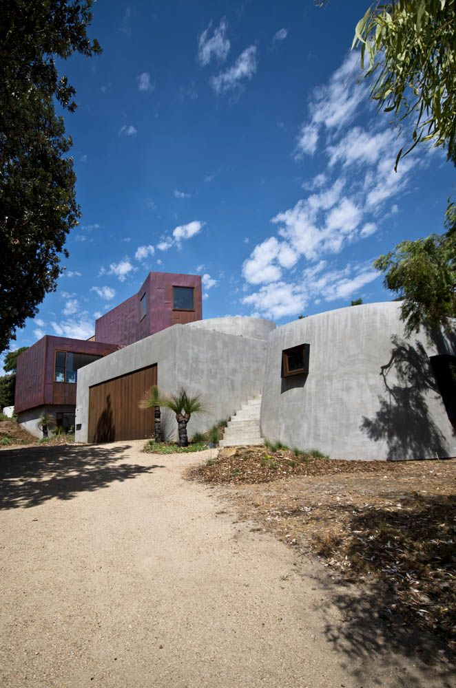 Street View Of Concrete And Copper House By Auhaus