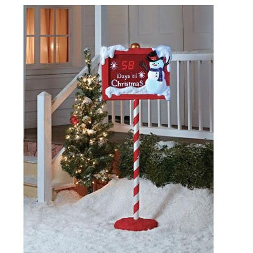 Countdown To Christmas Clock.Large Snowman Countdown To Christmas Clock Sign Outdoor Yard