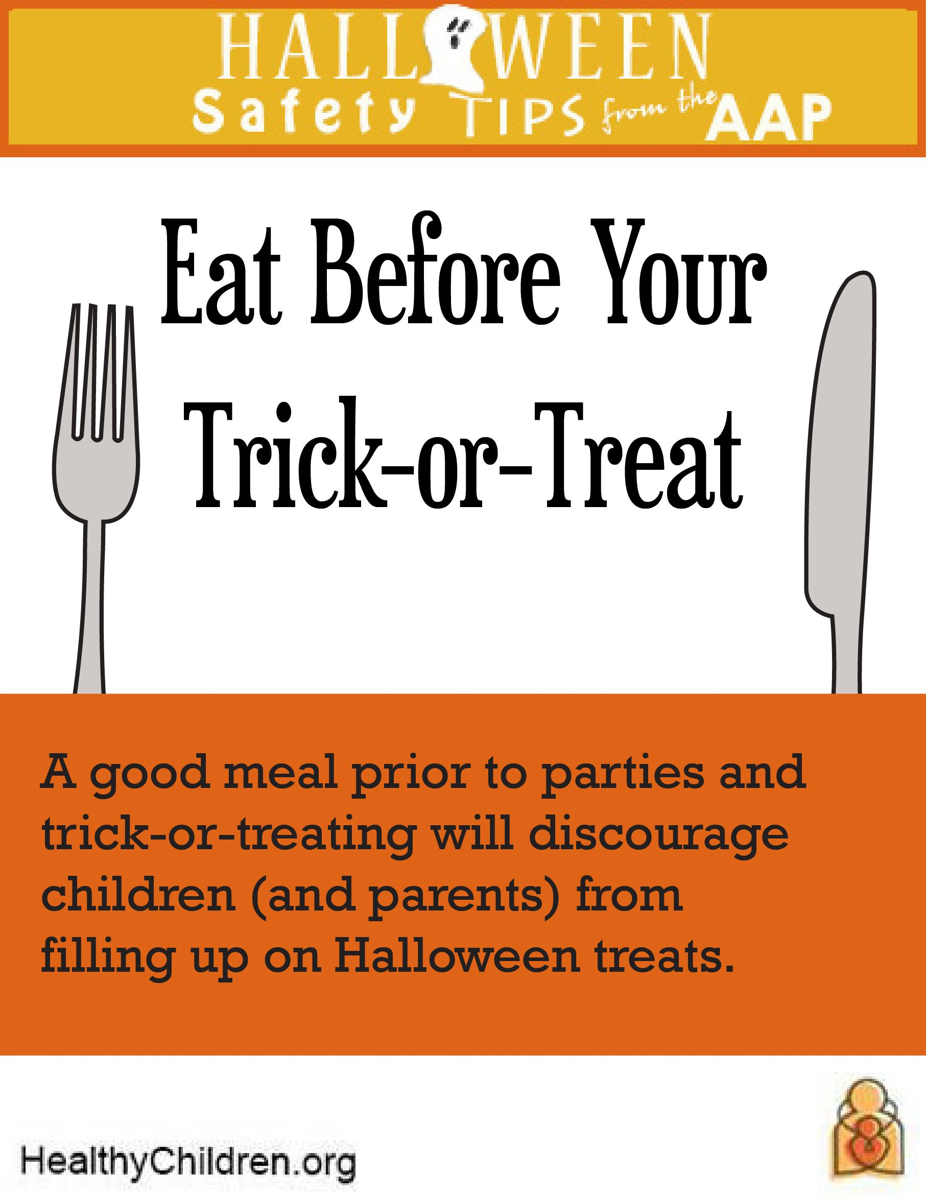 Halloween Safety Tips from the American Academy of