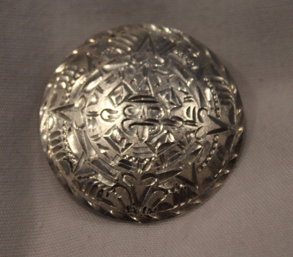 Vintage Mexico Sterling Silver Pin brooch Pendant, Mayan Aztec  925