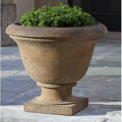 Campania International Cast Stone Urn Planter Color Nero Nuovo Urn Planters Stone Planters Cast Stone