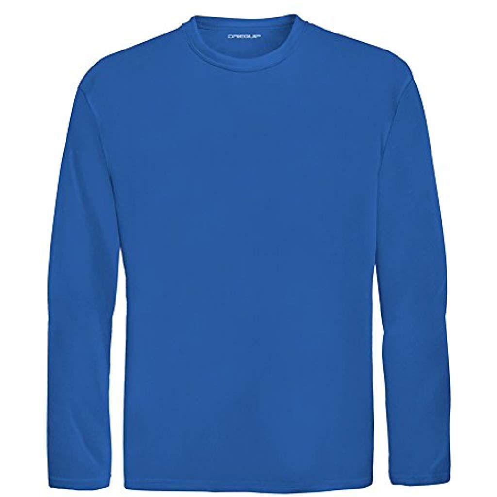 cf37fa9da2f8 DRI-Equip Youth Long Sleeve Moisture Wicking Athletic Shirts. Youth Sizes XS -XL