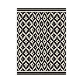 tapis losange noir et blanc 160 x 230 cm id es d co pour. Black Bedroom Furniture Sets. Home Design Ideas