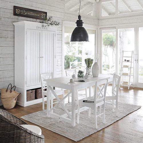 chaise en h v a blanc d coration table a manger blanche salle a manger blanche et maison du. Black Bedroom Furniture Sets. Home Design Ideas
