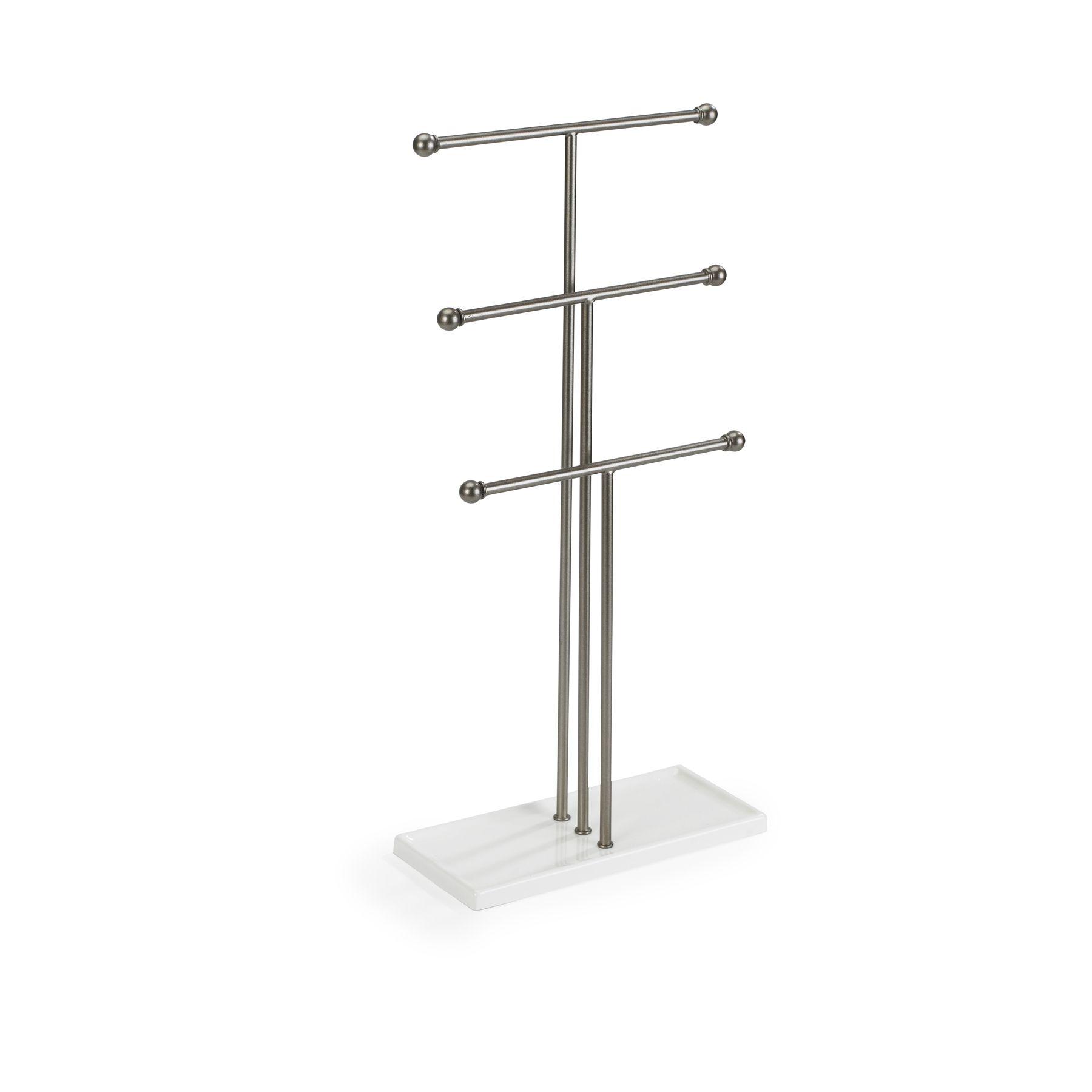 Photo of Trigem Jewelry Stand, White/Nickel