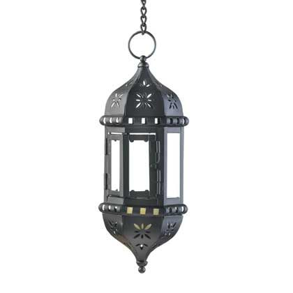 This Exotic Candle Lantern Is Embellished With An Eternally Chic Flower Design That Complements Any Décor Decorative Cutouts In Black Metal