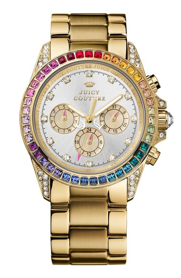 6a5109522981 So fun! Juicy Couture  Stella  Rainbow Crystal Bracelet Watch ...