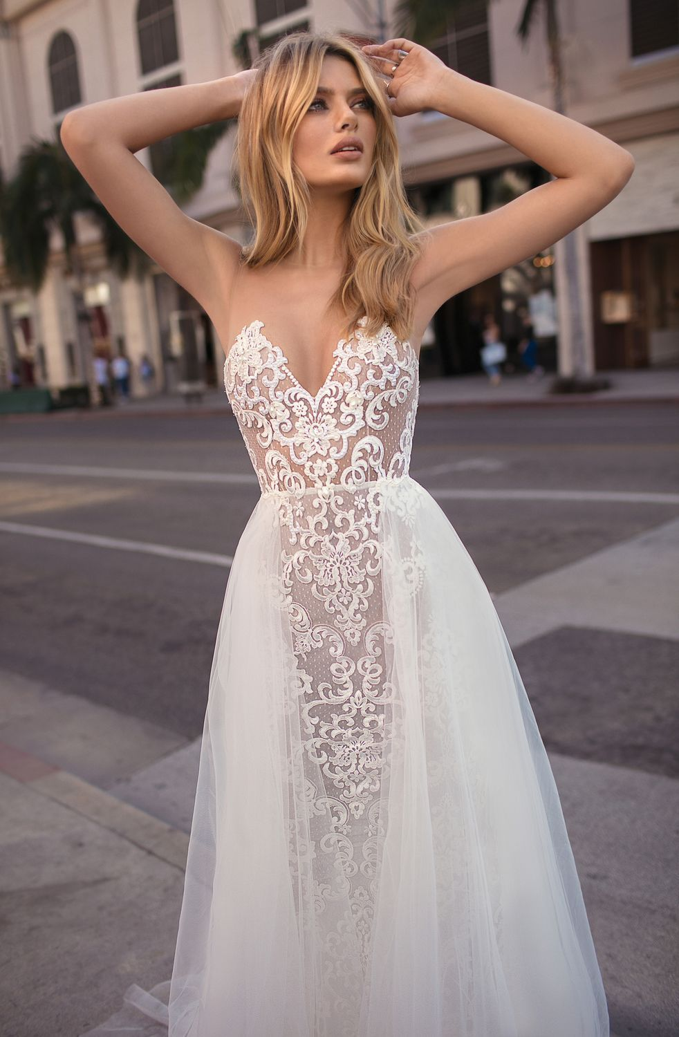 Robe Look 7 Par Berta Collection Muse 2018 Robes Mariage