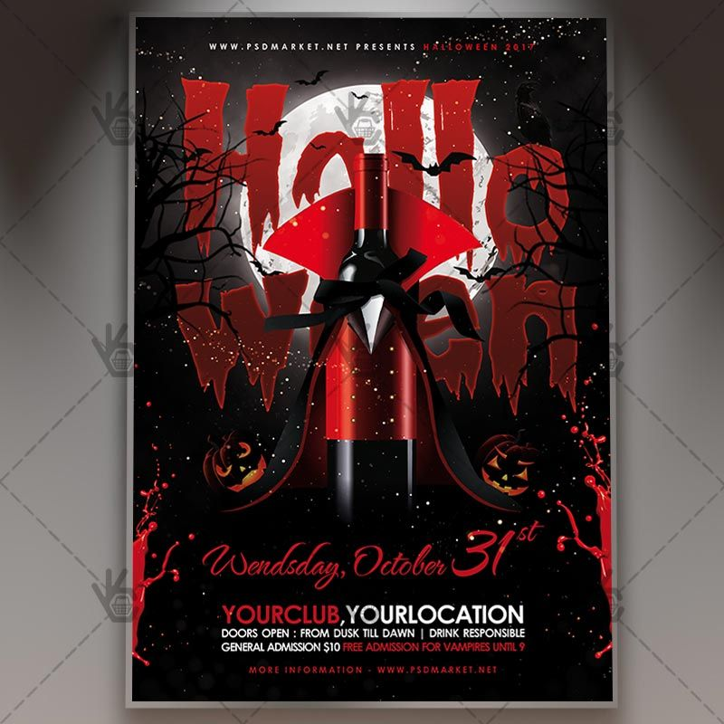 Halloween Party - Seasonal Flyer PSD Template #blood #ghostparty - Zombie Flyer Template