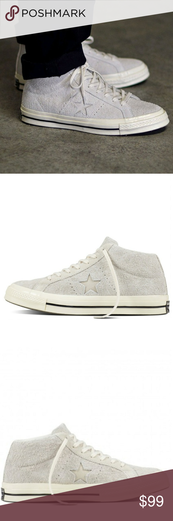 80959b9de82ffd NWT Converse One Star  74 Suede Leather - Mid-top sneakers - Throwback to