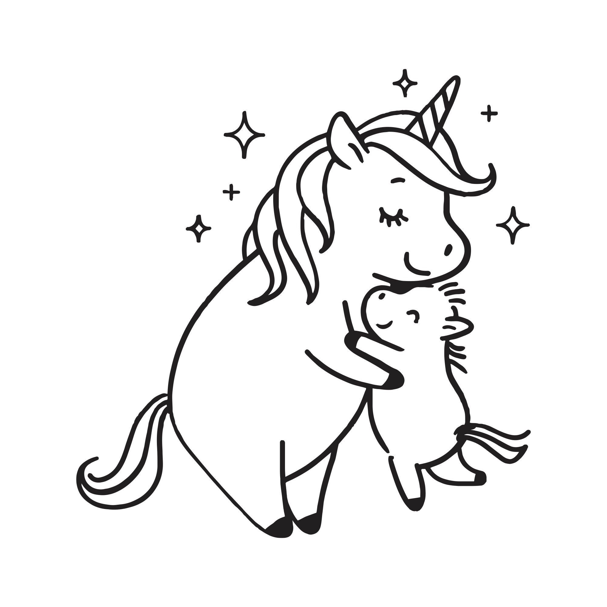 Excited To Share This Item From My Etsy Shop Unicorn Mom Svg Family Love Instant Downlo Unicorn Coloring Pages Cute Coloring Pages Butterfly Coloring Page