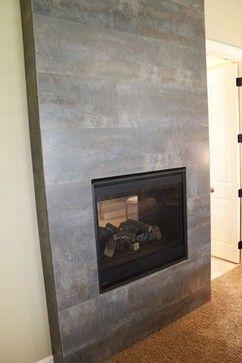 fireplace ideas modern stone tile | Tile Fireplace - modern ...