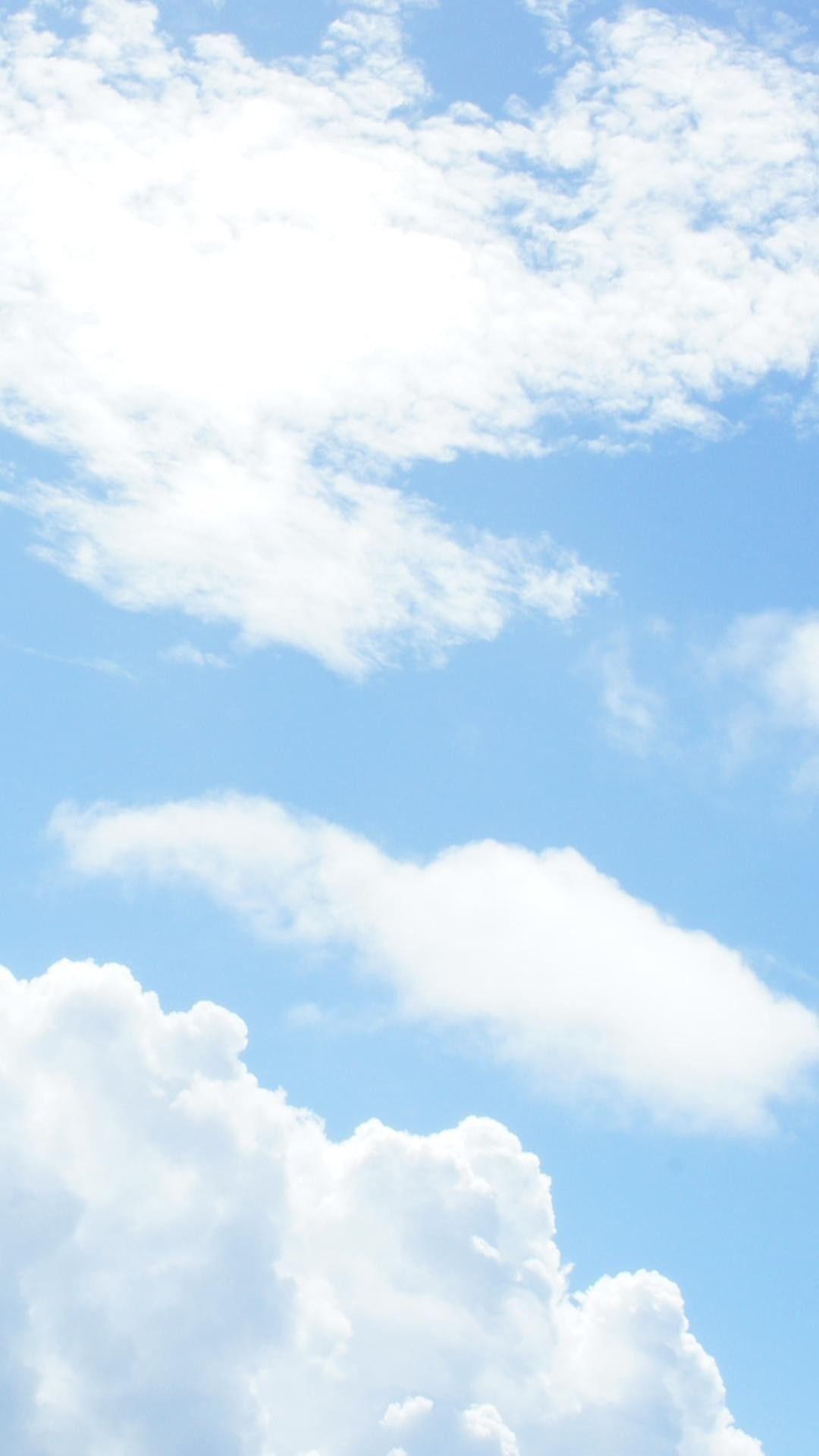 Gabrielaarayaaa Blue Sky Clouds Pastel Sky Scenery Wallpaper