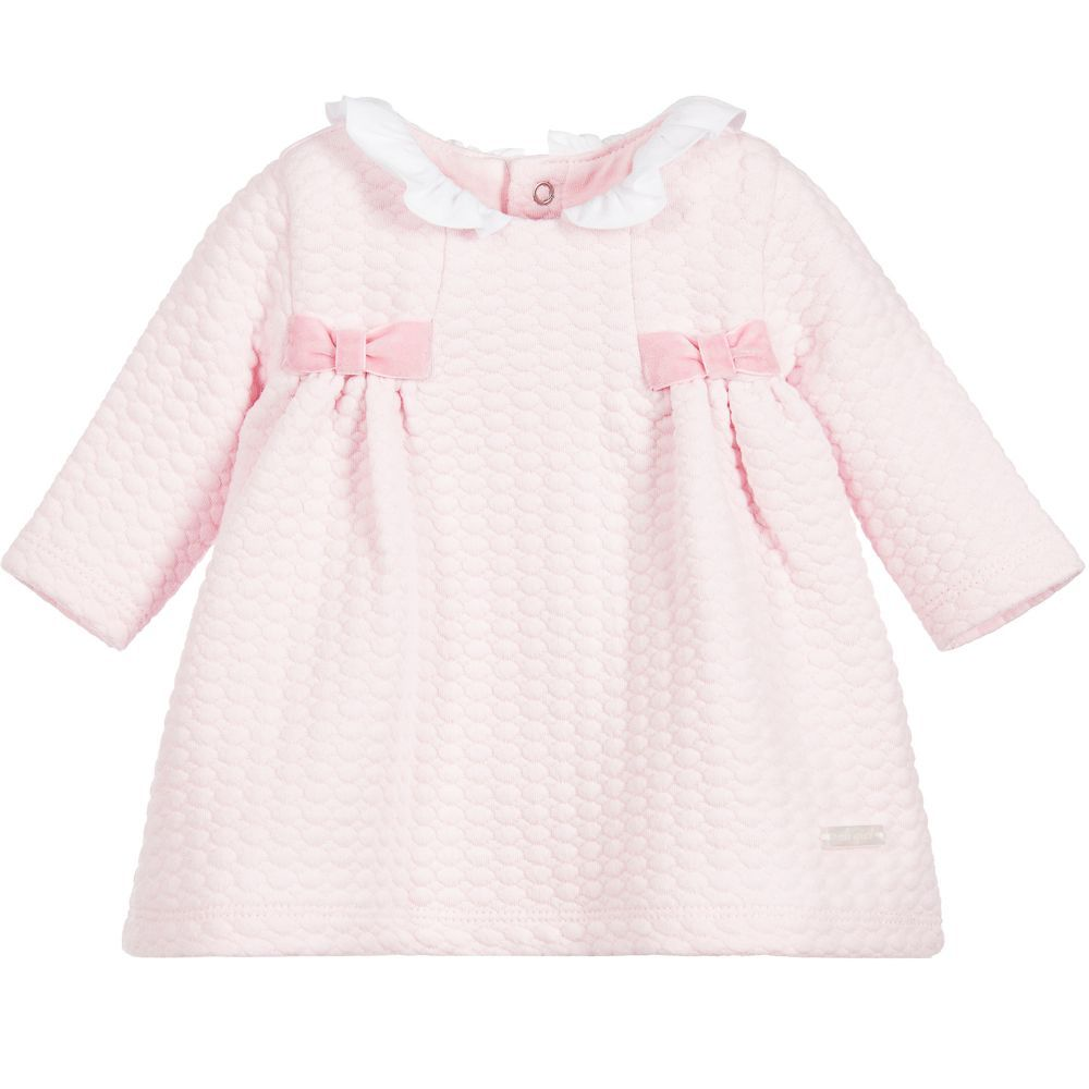 4eb77a27c852 She will be pretty in pink when she wears this cute dress by Mayoral. The