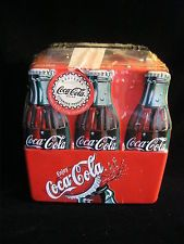 TIN COCA-COLA BOTTLE LUNCH BOX STYLE CONTAINER STORAGE BOX+ JAWBREAKER CANDY NEW
