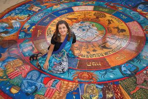 Indian-Jewish artist's vibrant mosaic at CRC aims to challenge viewers - Features - St. Louis Jewish Light