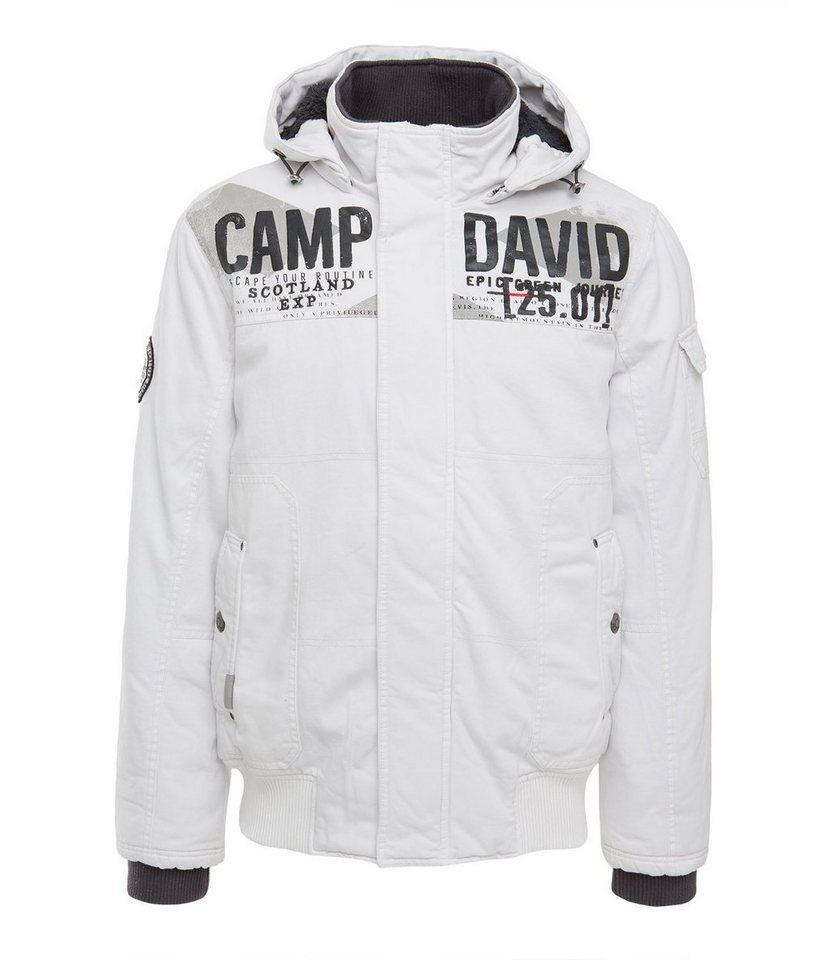 Outlet-Store verkauft neue Season CAMP DAVID Blouson mit auffälligen Frontapplikationen online ...