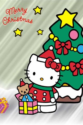 Hello Kitty Merry Christmas Iphone Wallpaper Iphone Fan Site