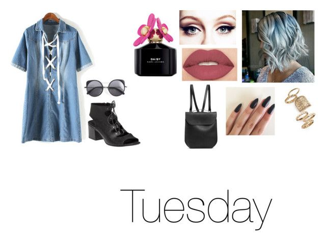 """Tuesday"" by isabellasmall on Polyvore featuring 275 Central, Smashbox, Marc Jacobs, Topshop, GRETCHEN and Wood Wood"