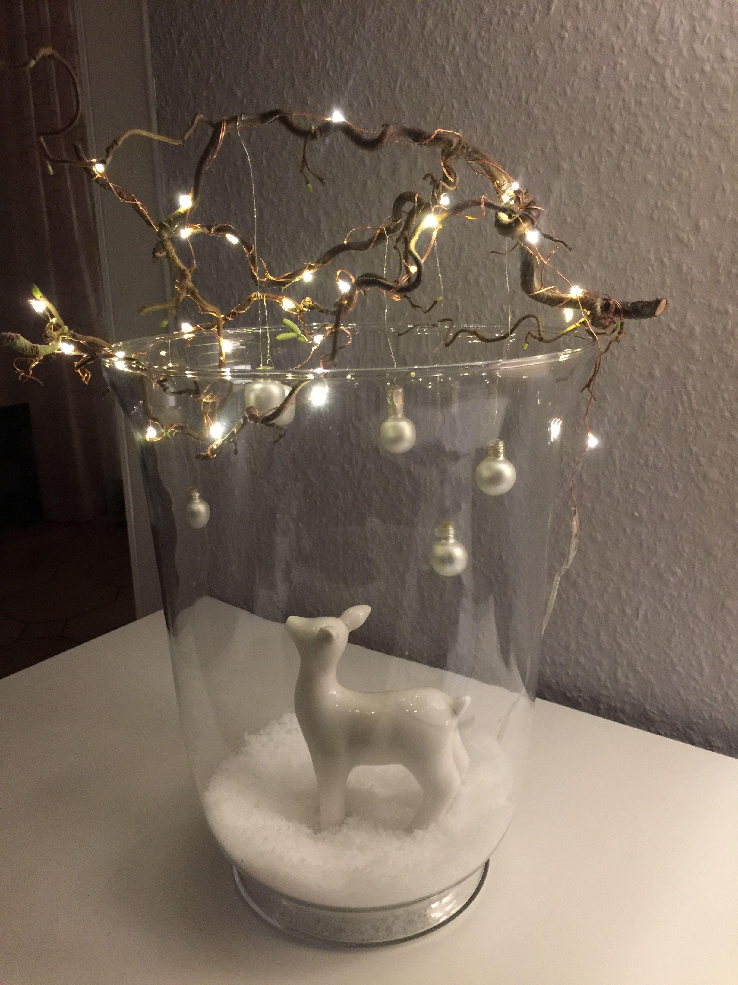 Reh im glas #weihnachtsfensterdeko Reh im glas #wellnessimglas