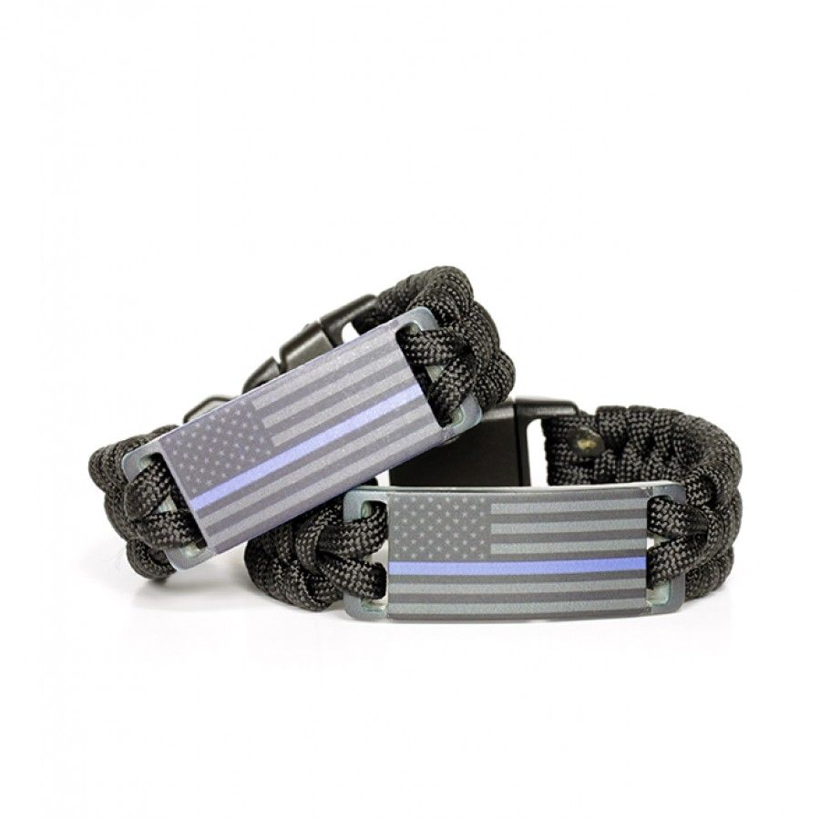 adjustable helps body product paracord image main line armor bracelet thin thinblueline provide collar dog blue