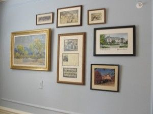 Including such historical pieces in the montages of artwork that fill the walls gives the sorority's current members a sense of pride and connection to the women that came before them.