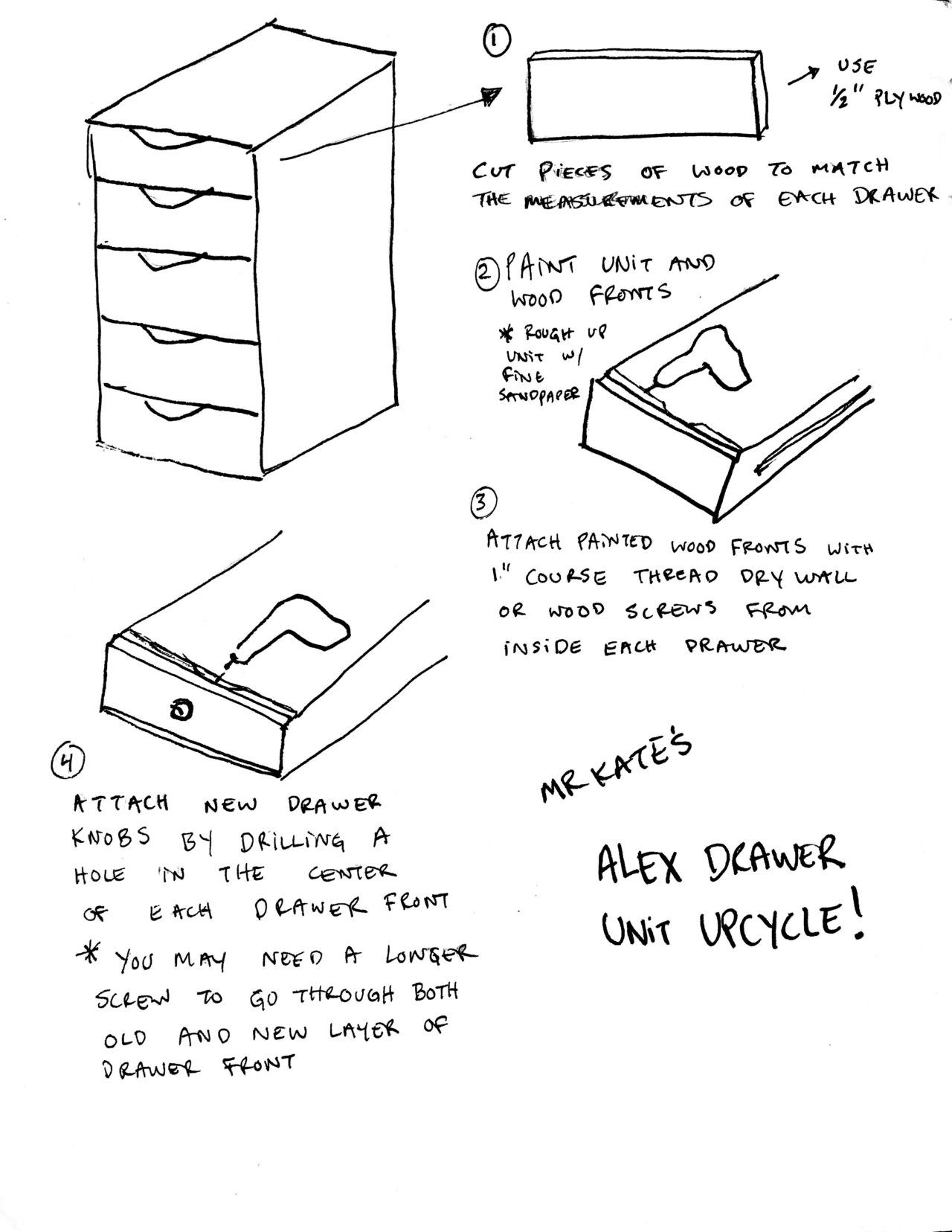 Upcycled Alex Drawers Ikea Hack Ikea Alex Drawers Alex Drawer Ikea Hack