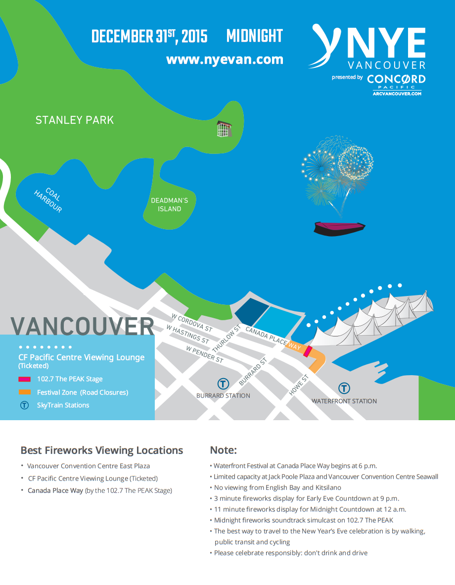New Year's Eve Vancouver 2016 Countdown Festival and