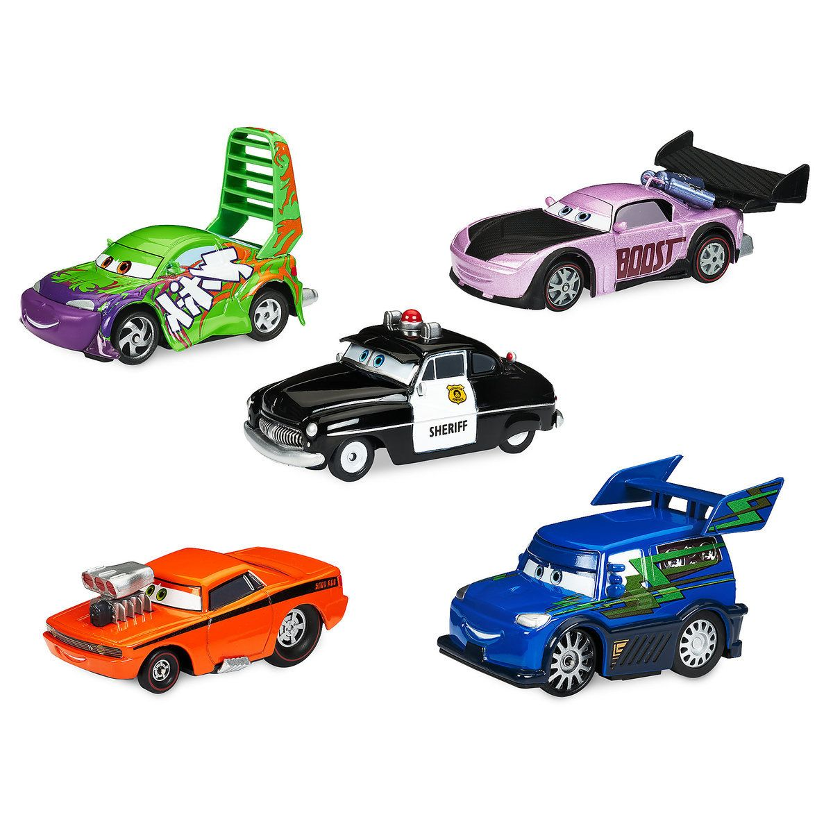Sheriff Tuner Cars Pull N Race Die Cast Set Cars Tuner
