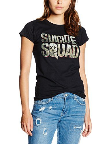 SUICIDE SQUAD Logo, Camiseta Para Mujer, Negro, Large #camiseta #starwars #marvel #gift