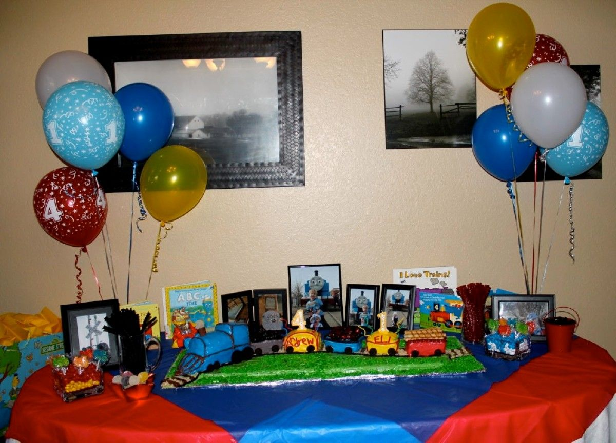 Thomas The Train Party Decorations Liams Third Birthday