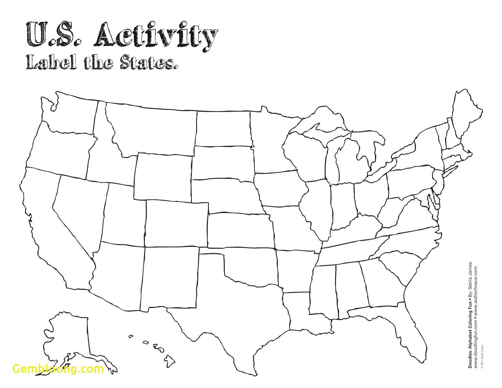 The Charming Free Printable Map Of The United States Blank