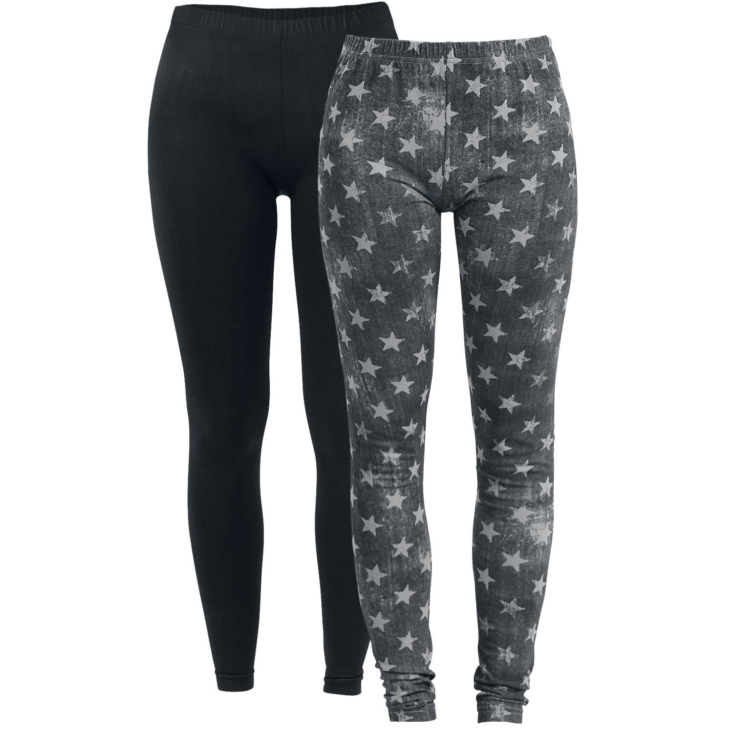 Ladies Leggings - 2 kpl setti - Legginsit - R.E.D. by EMP Koko 3XL hinta 25,99€
