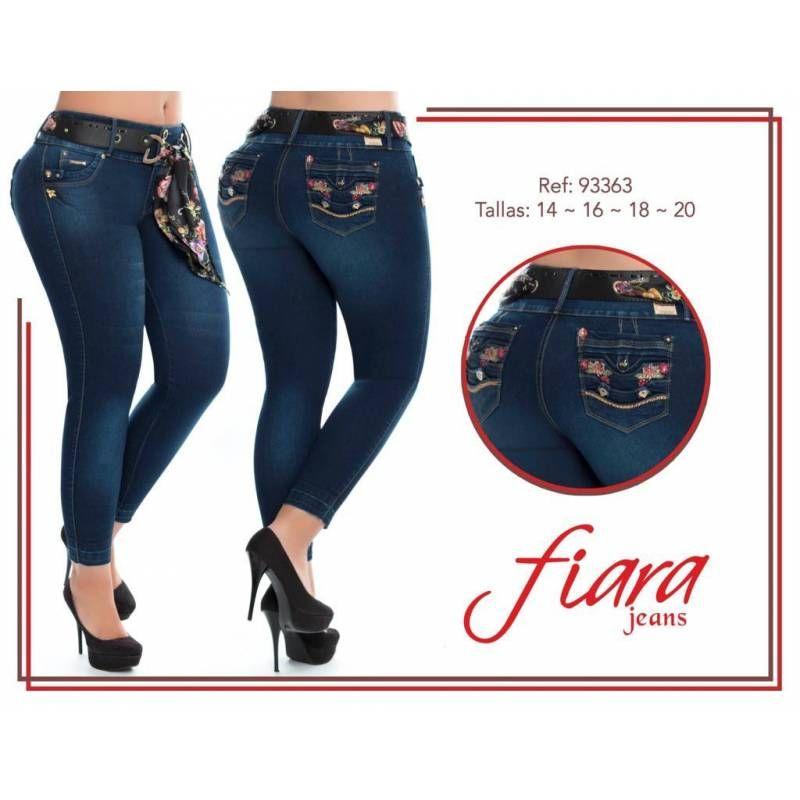 Vaquero Levanta Cola Talla Grande G93363 Talla 18 Color Azul Oscuro Levantar Cola Jeans Levanta Cola Pantalones Colombianos