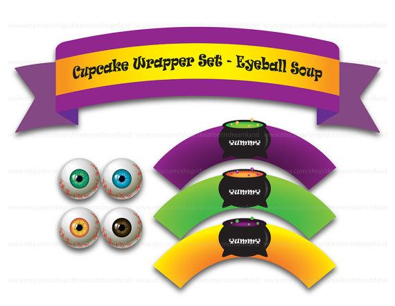 Printable Digital PDF File  Eyeball Soup by clipartsuperstore, $2.99