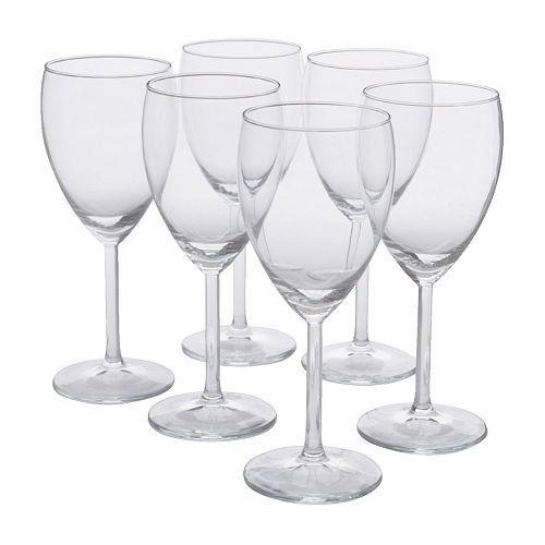 Ikea Svalka White Wine Glass Clear Glass H 7 X6 White