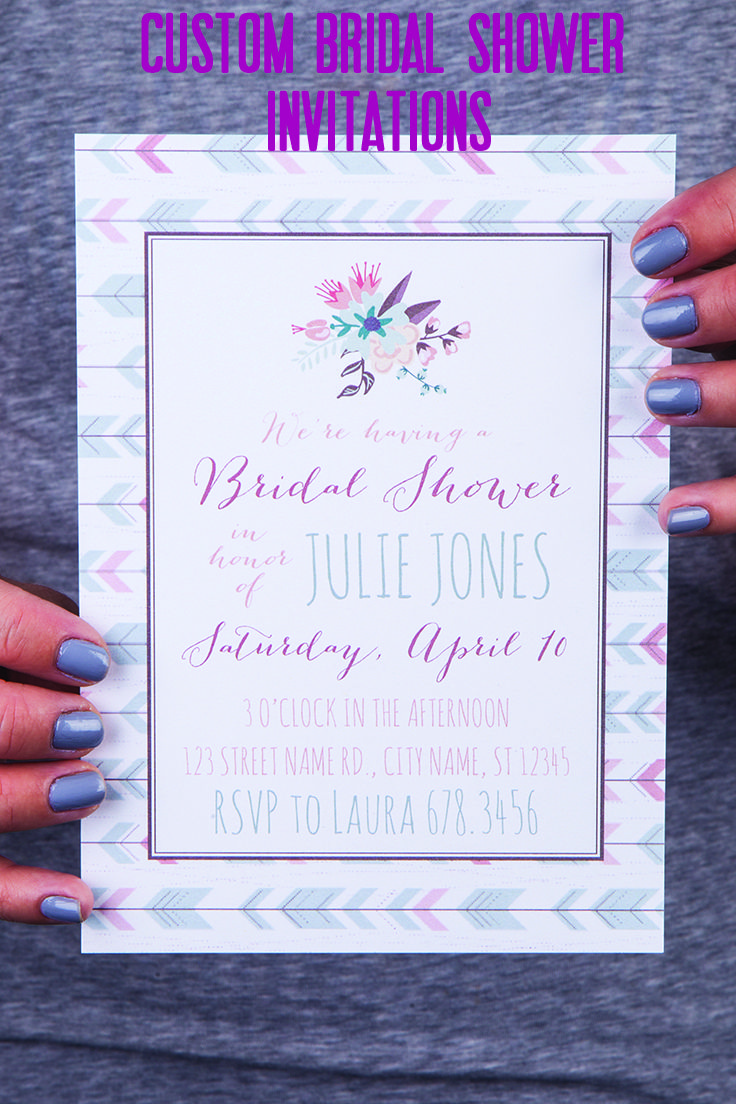 create your own bridal shower invitations and get them printed all in one shot don