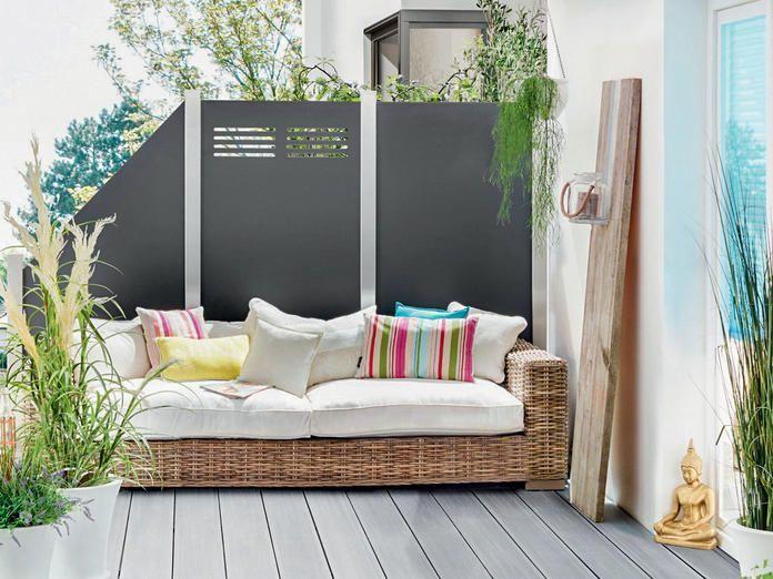 Sichtschutz für Balkon und Terrasse #sichtschutzterasse Sichtschutz Board #sichtschutzfürbalkon