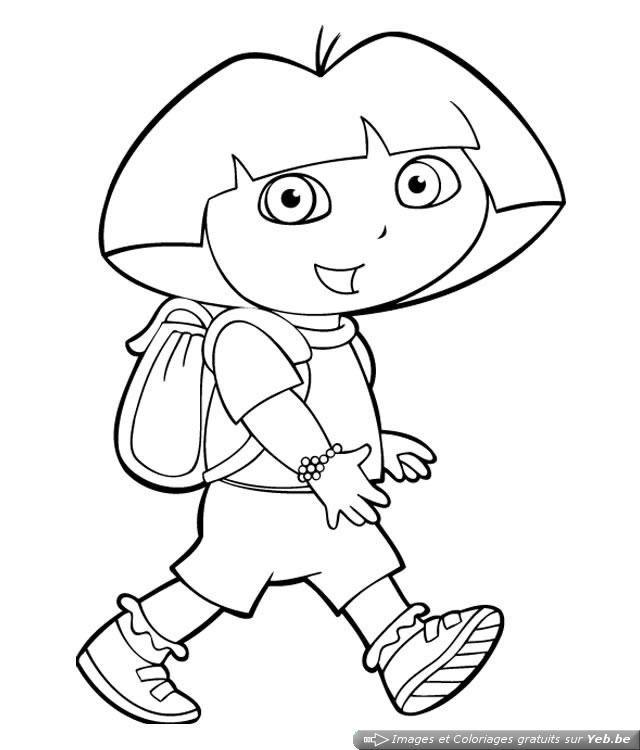 Coloriage Dora Part A L Ecole Coloriage Dora Coloriage Dora L