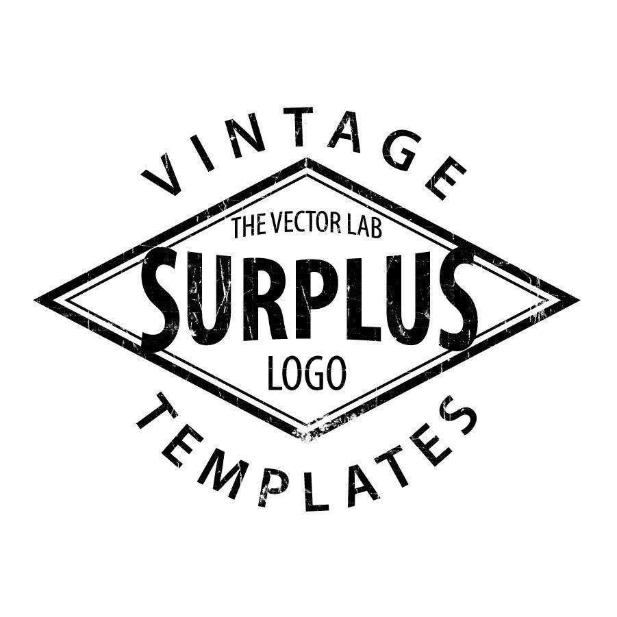 Logo templates vintage workwear logo templates adobe diamond vintage logo template for adobe illustrator pronofoot35fo Choice Image