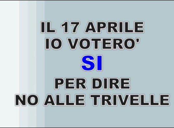 """Giancarlo Citrea su Twitter: """"17 Aprile vota Si per dire No alle trivelle. #ItaliaSoleMare https://t.co/ZC4axCDdyR"""""""