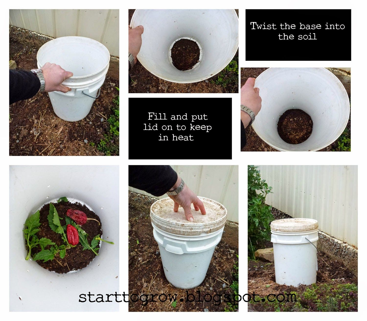 Start To Grow: DIY Easy Compost Bin