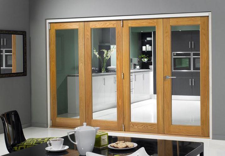 Pattern 10 French Internal Oak Glazed Door Bi Fold Kit Room Divider Doors Bifold Doors Internal Folding Doors