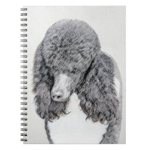 Standard Poodle Black Parti Painting - Dog Art Notebook poodle, poodle quote, felt poodle #poodlepup #poodlegigante #poodlex, back to school, aesthetic wallpaper, y2k fashion